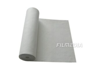 Water and oil repellent filter material